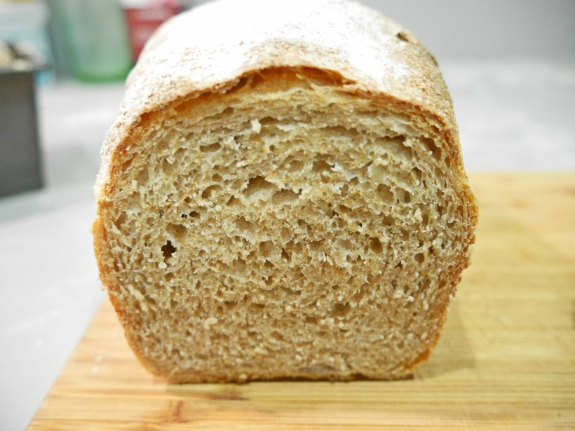 crumb shot of potato bread